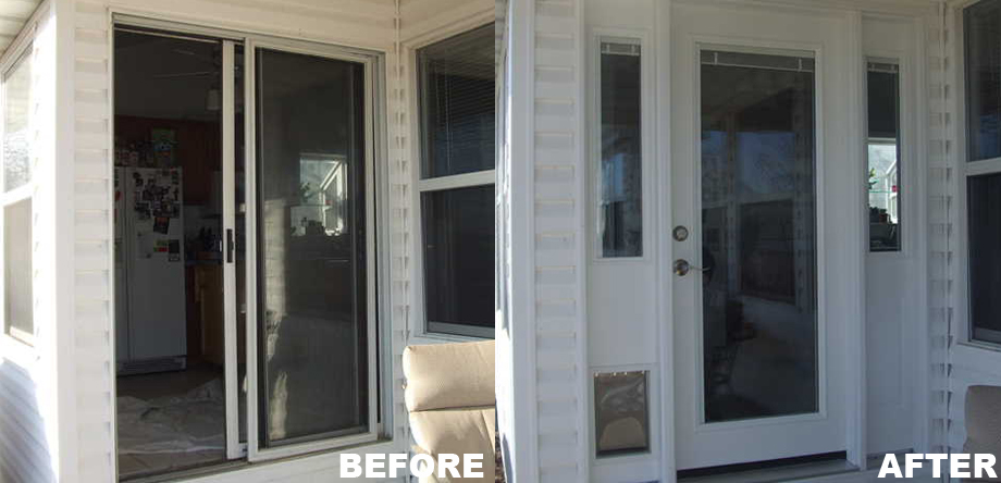 Replacing door repair rotted front door frame install for Replacement french doors
