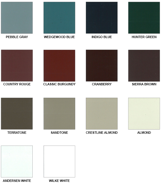 Wilke Standard Paint Colors