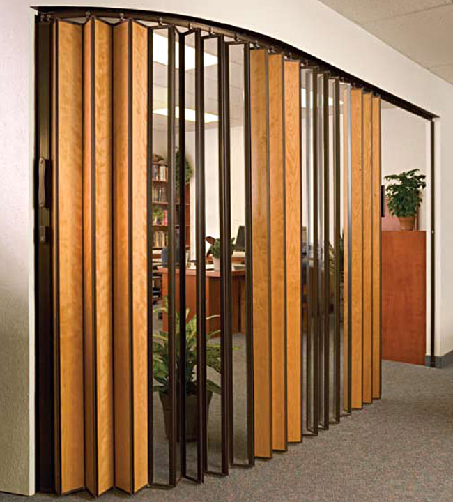 Wooden Accordion Doors : St louis accordion doors for commercial residential by