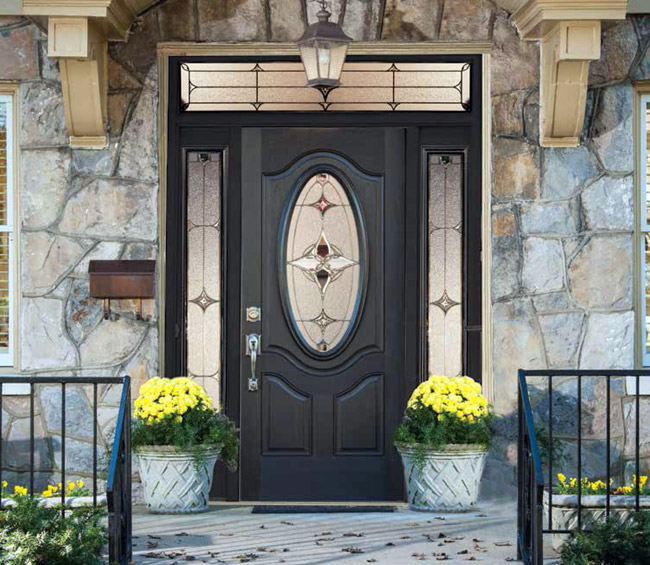 St. Louis Exterior Decorative Glass Doors from Wilke