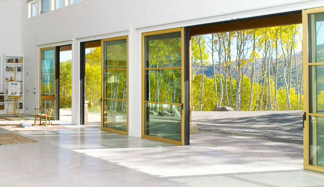 Residential exterior glass wall systems home design for Residential sliding doors